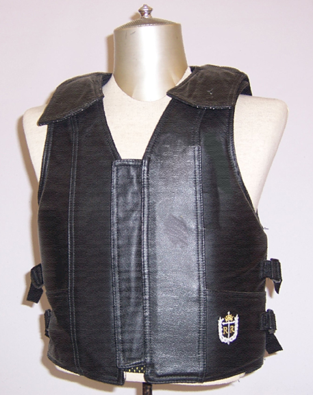 1000 Series, Saddle Bronc Vest, Leather, Black