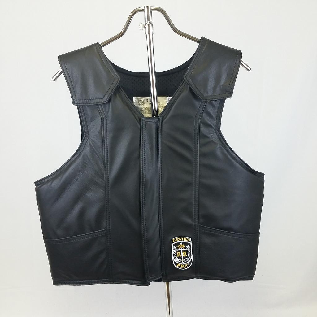"ProRider8"" (PR8) Bull Riding Vest, Leather, Black"