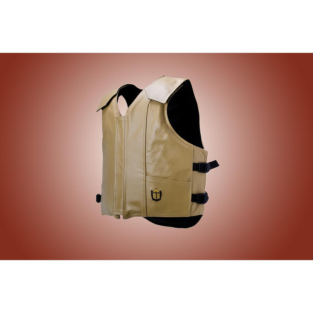 1200 Series Bull Riding Vest, Leather, Custom Color