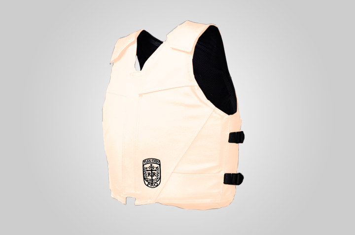 Flex Thin Pro Bull Riding Vest, Leather, Standard Colors